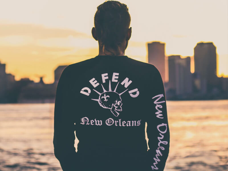 Defend New Orleans Long Tee